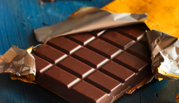 How do you play the chocolate bar game unwrapped chocolate bar on a table